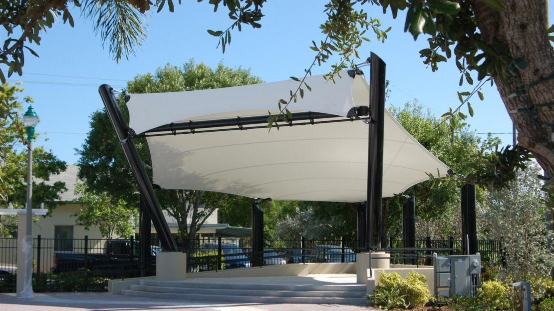 small venue shade canopy