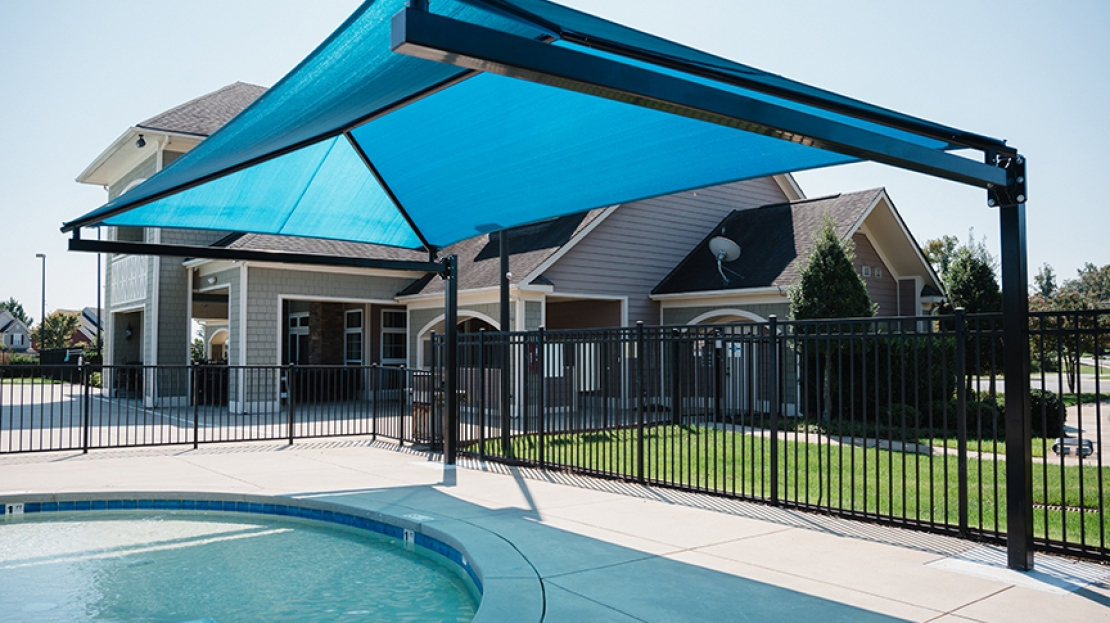 kiddie pool cantilever shade