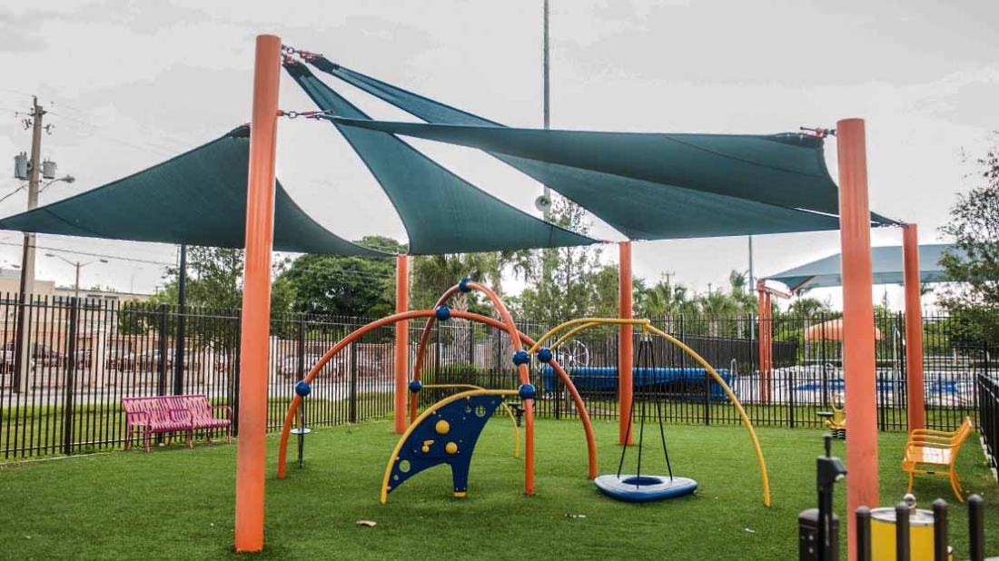 sail shade over playground