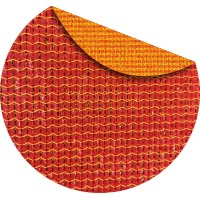 Sunburst commercial two color shade fabric
